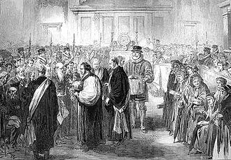 Royal Maundy - A Royal Maundy ceremony in 1867