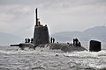 Royal Navy Submarine HMS Astute Returns to HMNB Clyde MOD 45153736.jpg