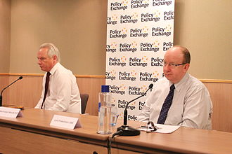 Daniel Finkelstein - Finkelstein (right) with Francis Maude, at a Policy Exchange event in 2013