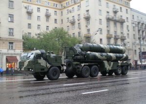 A TEL of a S-400 Triumf during a Victory Day A...
