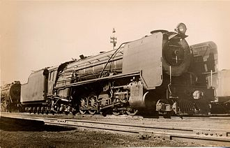 South African Class 21 2-10-4 - No. 2551 with smoke deflectors