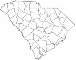 Location of Fort Lawn, South Carolina