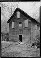 SOUTH (FRONT) ELEVATION, LOOKING NORTHWEST - Mingus Flour Mill, Gatlinburg, Sevier County, TN HAER TENN,78-GAT,2-3.tif