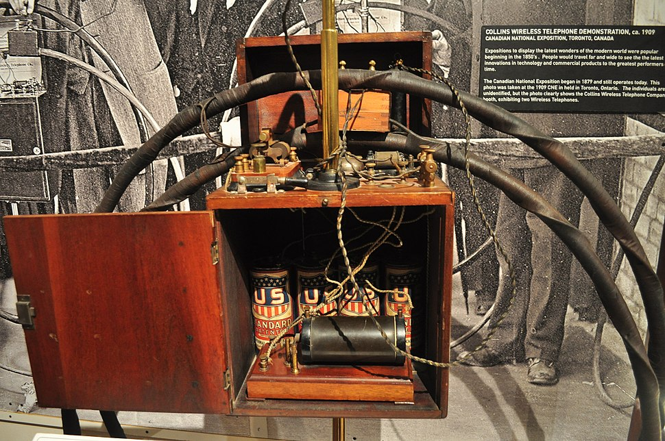 SPARK Museum of Electrical Invention - interior 29 - the only surviving Collins Wireless Telephone, c. 1908