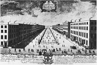 O'Connell Street - Sackville Street and Gardiner's Mall in the 1750s