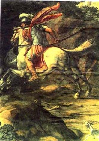 Crescentinus - Image: Saint Crescentinus Killsthe Dragon