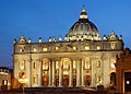 Saint Peter's Basilica at sunset.jpg