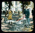 Saint Petersburg. Peterhof Palace Park child in a baby carriage.jpg