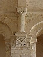 Saintes (17) Basilique Saint-Eutrope Intérieur Chapiteau 21.JPG