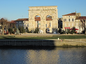 Saintes, Charente-Maritime - Arch of Germanicus and the Charente River