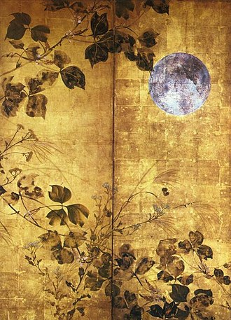 Sakai Hōitsu - Autumn Flowers and Moon