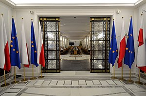 Sejm and Senate Complex of Poland - Entrance into Column Hall