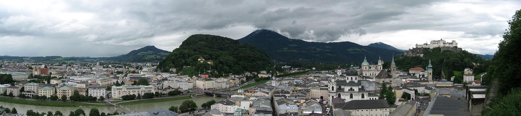 Panoramo de Salzburg