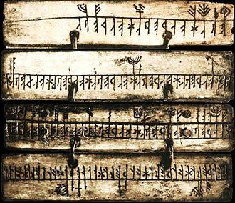 Runic calendar - Sami runic calendar.