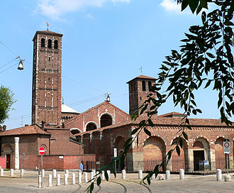 Basilica of Sant'Ambrogio - Exterior view of the basilica.