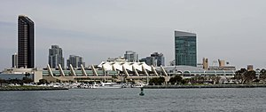 San Diego Convention Center - View of the center from the San Diego Bay