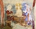 San lorenzo in insula, cripta di epifanio, affreschi di scuola benedettina, 824-842 ca., lavaggio di gesù neonato.jpg