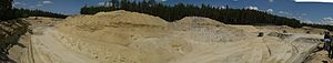Sand mining - Sand mine in the Czech Republic.