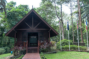 Sandakan Memorial Park - The pavilion with its permanent exhibition.