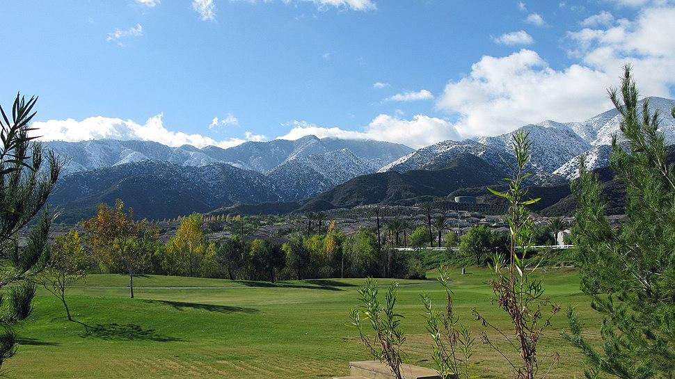 Santa Ana Mountains in Snow