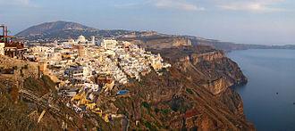 Fira - Panoramic view of Fira