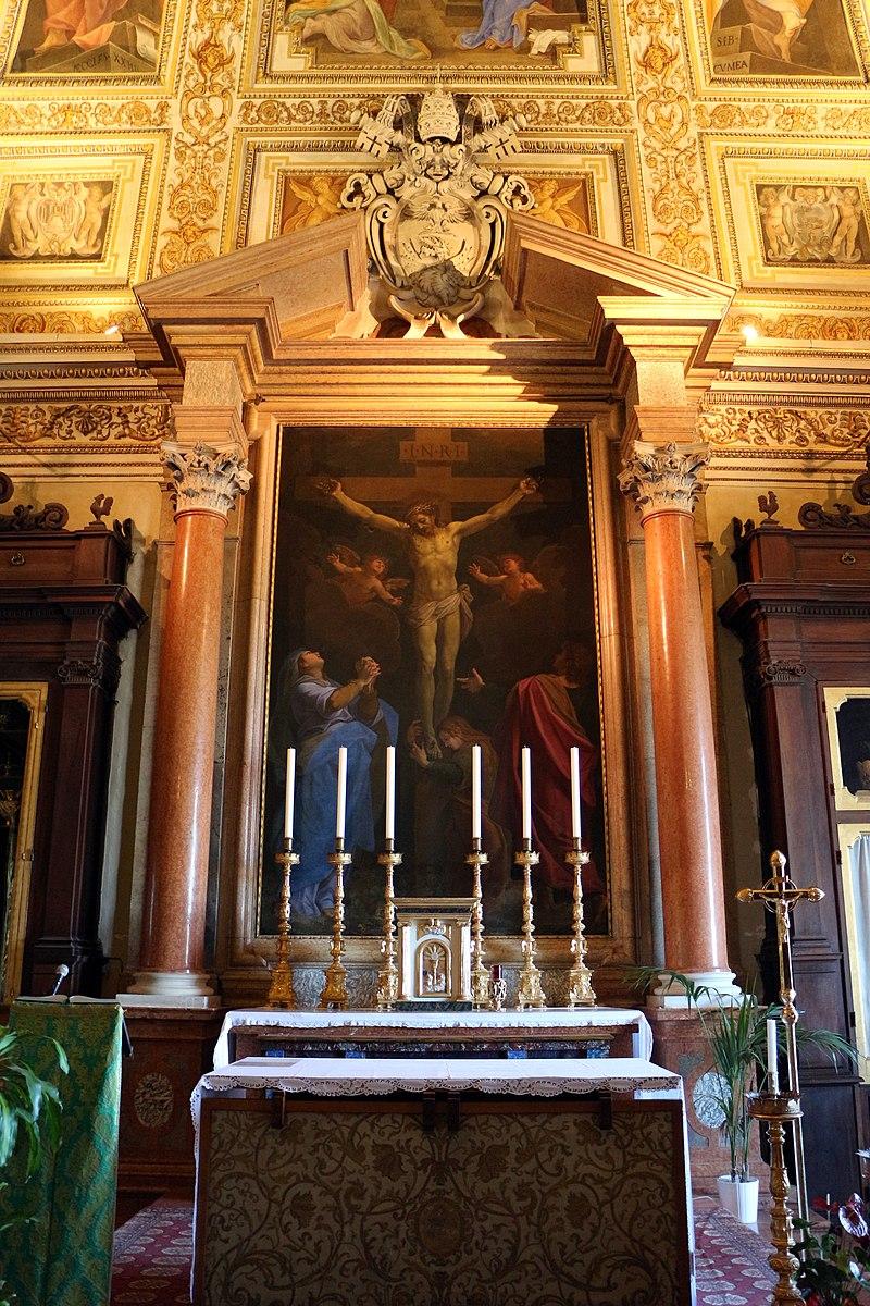 Santuario di loreto, sala del pomarancio, crocifissione di cristoforo roncalli 01.jpg