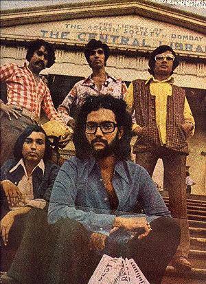 Nandu Bhende - Bhende (front) with Savage Encounter, 1975