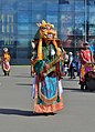 Saxophonist of the Tuvan Wind Orchestra in costume of Cham dance.jpg