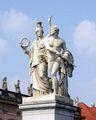 Schlossbruecke Berlin Pallas Athene führt den jungen Krieger in den Kampf Albert Wolff.JPG
