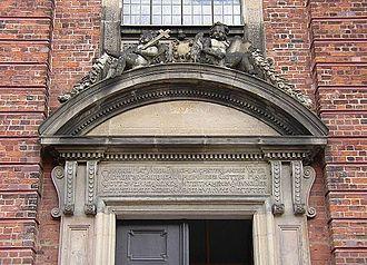 Schelf Church - Image: Schwerin Schelfkirche Inschrift