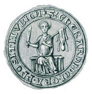 Gerhard IV, Count of Holstein-Plön - Image: Seal Gerhard IV. (Holstein Plön) 01