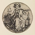 Seated Lady Holding a Shield with an Unicorn MET DP279836.jpg