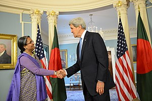 Dipu Moni - John Kerry meets with Dipu Moni