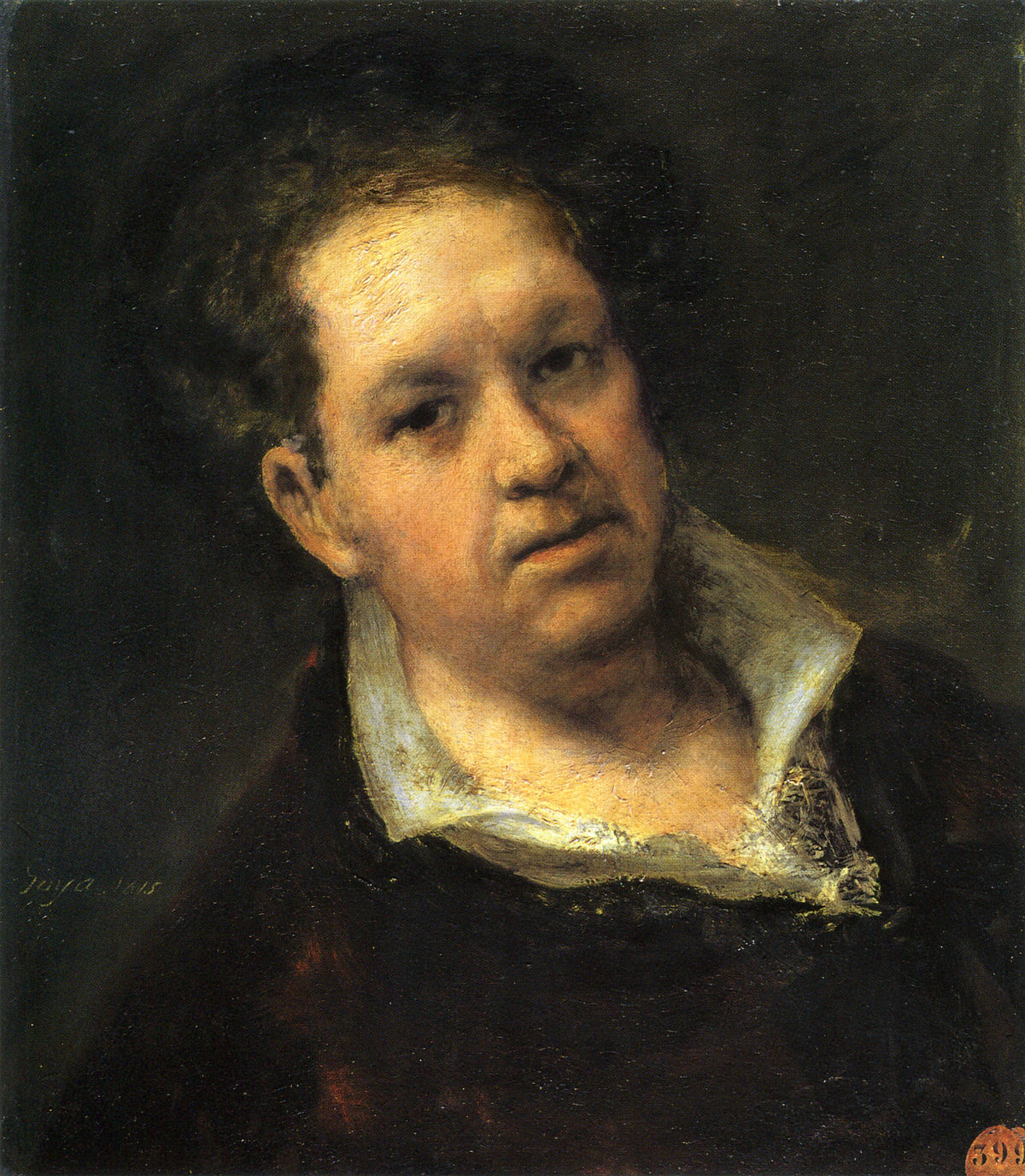 Self-portrait at 69 Years by Francisco de Goya.jpg