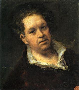 francisco de goya selbstbildnisbeispiel eines hell dunkel kontrasts - Bildbeschreibung Kunst Beispiel