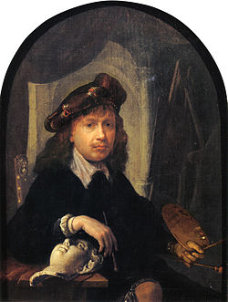 Self-portrait by Gerrit Dou