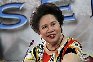 Miriam Defensor Santiago - Santiago in 2012.
