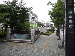 A street in Jungnang District by Yongmasan Station