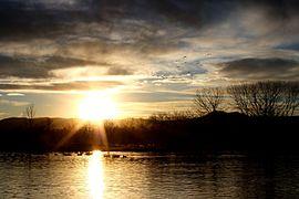 Setting sun at the lake.jpg