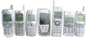 Phone cloning - A selection of mobile phones that can be cloned.