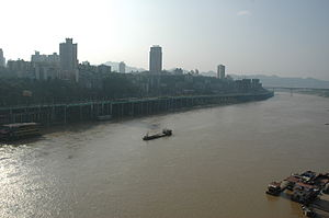 Shapingba District - The Shapingba and the Jialing river.