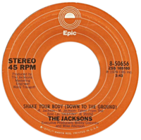 Shake Your Body (Down to the Ground) by The Jacksons US vinyl A-side.png