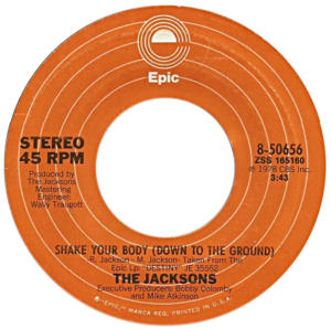 Shake Your Body (Down to the Ground) - One of A-side labels of the US 7-inch vinyl release