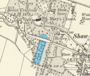 John Hore - In 1833, Hore worked on the ornamental canal and basin (highlighted) at Shaw House in his hometown of Newbury