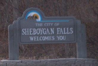 Sheboygan Falls, Wisconsin - Welcome sign