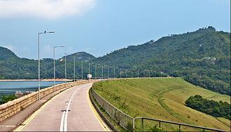 Shek Pik Reservoir - South Lantau Road at Shek Pik Reservoir.