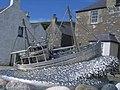 Shetland Bus memorial - closeup of boat - geograph.org.uk - 971186.jpg