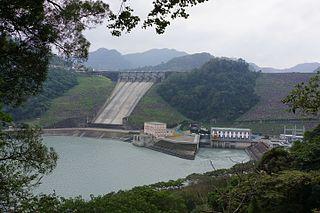 Shihmen Dam Dam in Fuxing, Taoyuan City, Taiwan