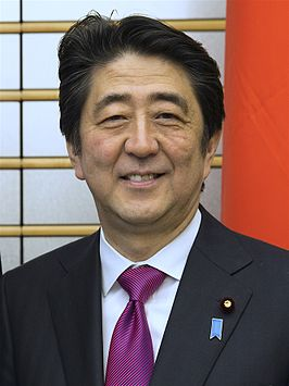 Shinzo Abe in april 2015