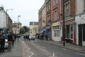 Tyndalls Park - Image: Shops in St Michaels Hill (geograph 3890975)